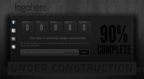 3D look under construction theme