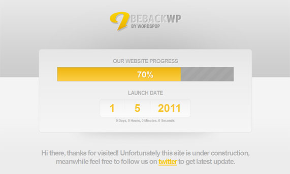 Beback WordPress theme
