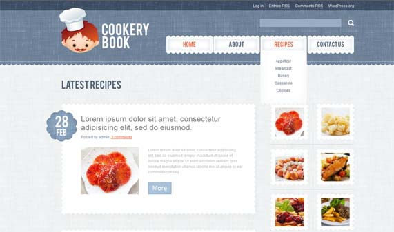 Cookery Book theme