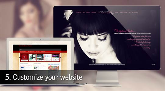 Customize website
