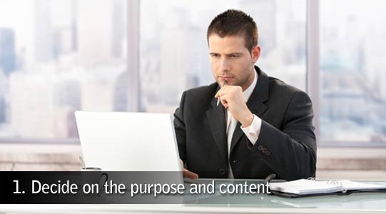 Decide website purpose
