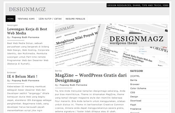 Designmagz WordPress theme
