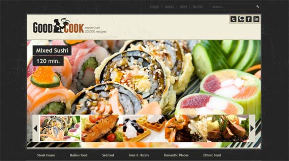 Food WordPress blog