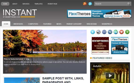 Instant WordPress theme