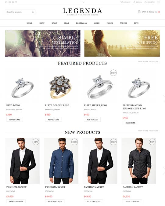 Legenda e-commerce theme
