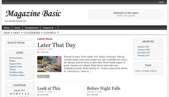 Magazine Basic WordPress theme