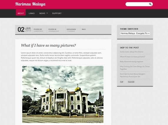 Malaysia WordPress theme