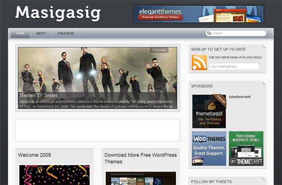 Masigasig WordPress theme