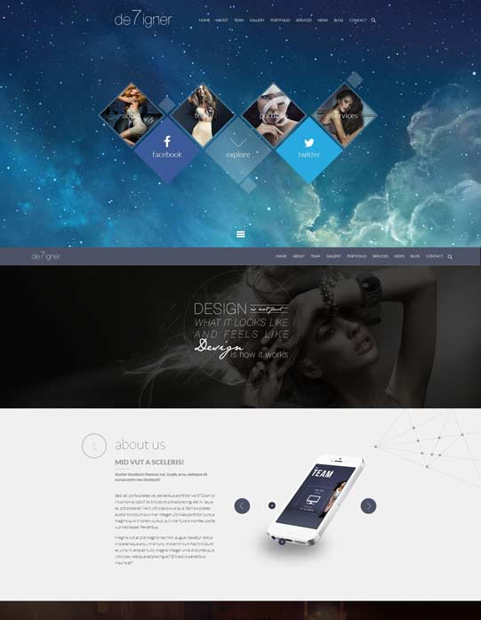 One-page theme