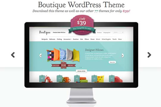 Online boutique theme