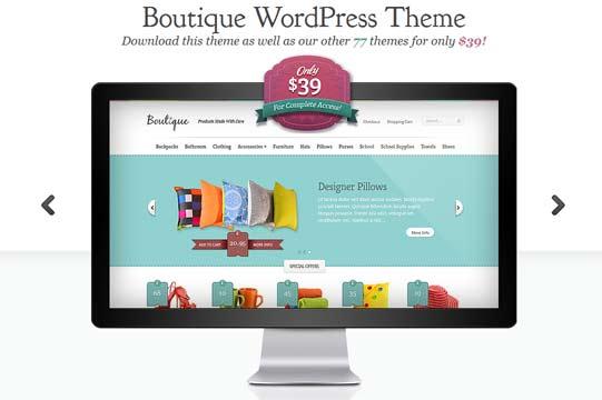Online boutique theme