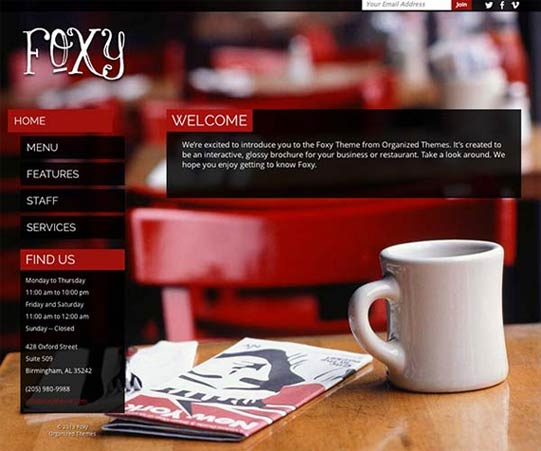 Organized Theme - Foxy
