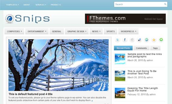 Snips WordPress theme