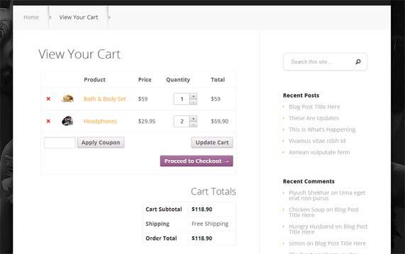 StyleShop shopping cart