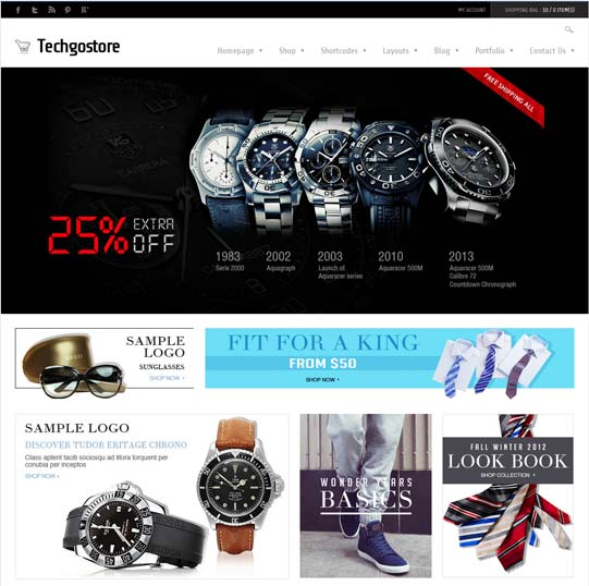 Tech ecommerce theme