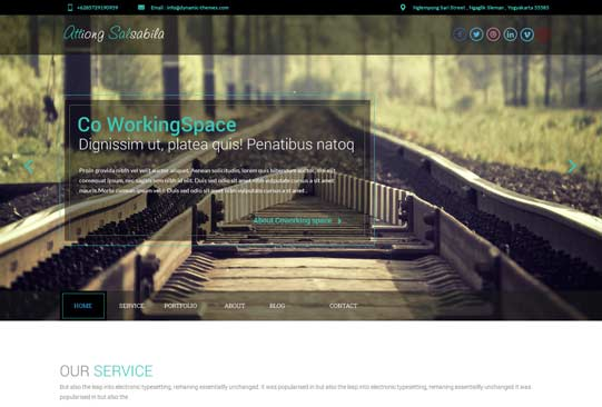 ThemeForest 1 page theme