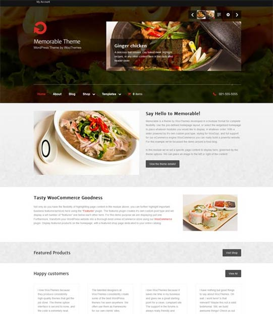 WooThemes memorable