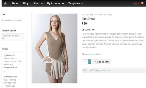 WordPress theme E-commerce
