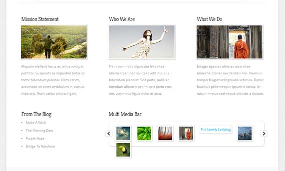 WordPress theme thumbnails