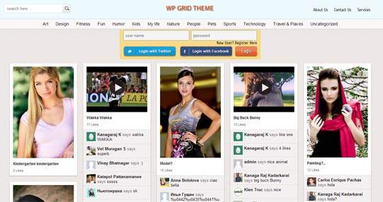 WP Grid theme